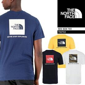 ノースフェイス Tシャツ THE NORTH FACE RED BOX TEE T92TX2 レッドボックスTシャツ メンズ 男性 ▲[ホワイト][ブラック][ブルー][イエロー]