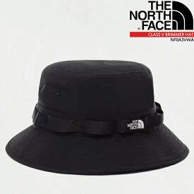 ノースフェイス ハット 帽子 THE NORTH FACE CLASS V BRIMMER HAT NF0A3VWA バケットハット サファリハット ブリムハット ブリマーハット 日焼け防止 海水浴 旅行 フェス 海 登山 ハイキング▲[ブラック]