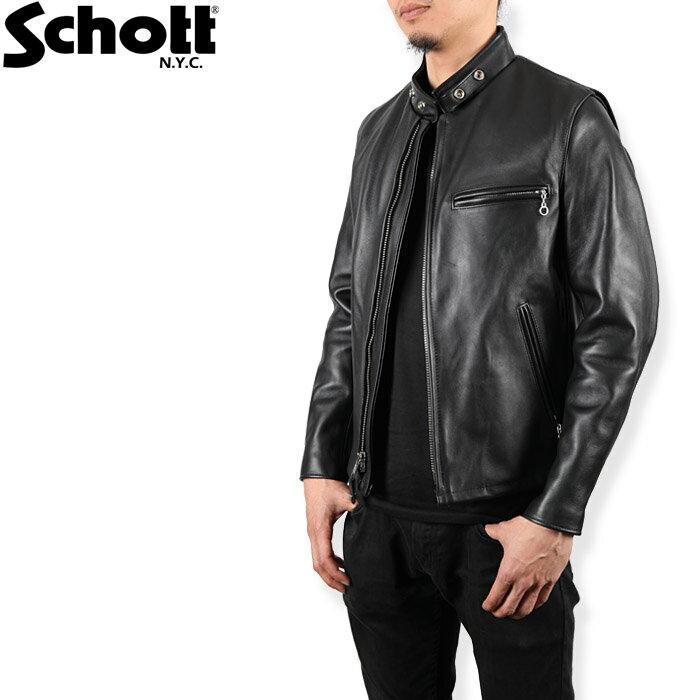 [再入荷] Schott 641 シングル ライダース ショット 革ジャン レザージャケット スタンドカラー 楽天カード分割 ds-Y