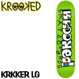 クルキッド クルックド スケートボードデッキ Krooked SKATEBOARD DECK KRKKER LG 8.38 X 32.56 ds-Y
