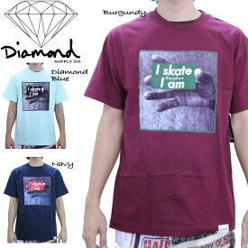 ■アウトレット品■ダイアモンドサプライ Tシャツ DIAMOND SUPPLY I Am T Shirts C13-P119 フォトT 半袖 メンズ 男性 sale セール▲[ブルー][レッド]