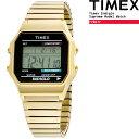 [送料無料] タイメックス 腕時計 TIMEX CLASSIC DIGITAL GOLD [T78677] メンズ レディース プレゼント ギフト ds-Y
