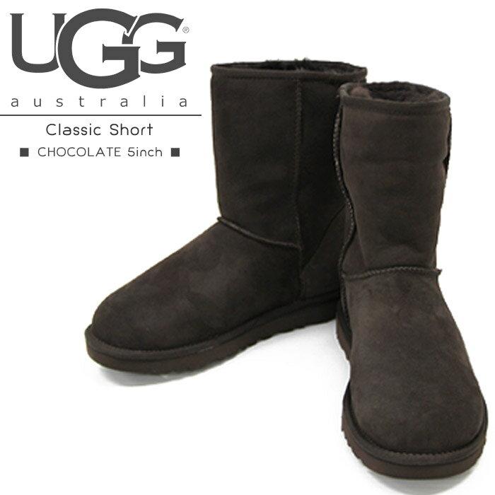 [アウトレット]【CHOCOLATE 5inchのみ】UGG ムートンブーツ Classic Short アグ クラシックショート モカシン シープスキン【dsc_FW】UGG Australia 防寒