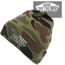 ■アウトレット品■[ネコポス送料\200]バンズ ニット帽 帽子 VANS Classic Camo カモフラージュ ビーニー ニットキャップ ヘッドウェア ハット スノーボード カモフラ カモ sale セール ▲[グリーン][その他]