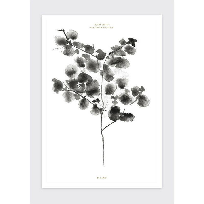 【6/14(木)20時〜スーパーSALE期間中ポイント10倍!】BY GARMI コットンツリー ブラック アートプリントポスター A3 北欧 デンマーク