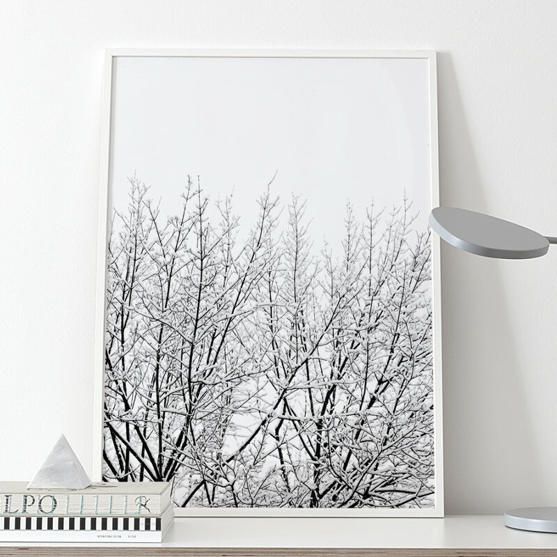 【12/4(火)20時〜スーパーSALE中ポイント10倍!】Coco Lapine Design SNOWY TREE アートプリントポスター 50x70cm ベルギー/ドイツ