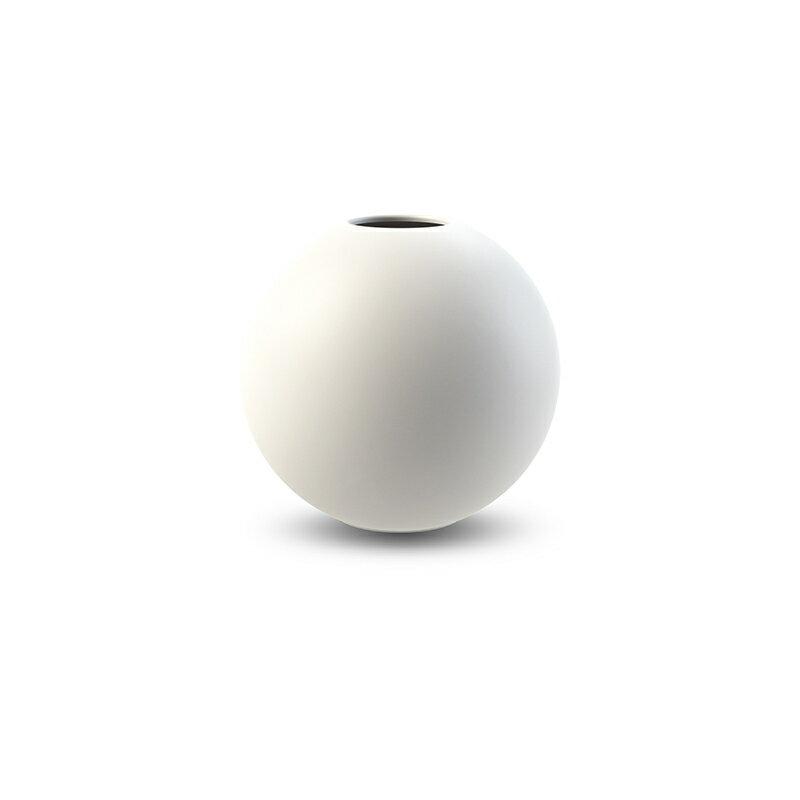 Cooee Design ボールフラワーベース 10cm ホワイト 花びん 北欧 スウェーデン