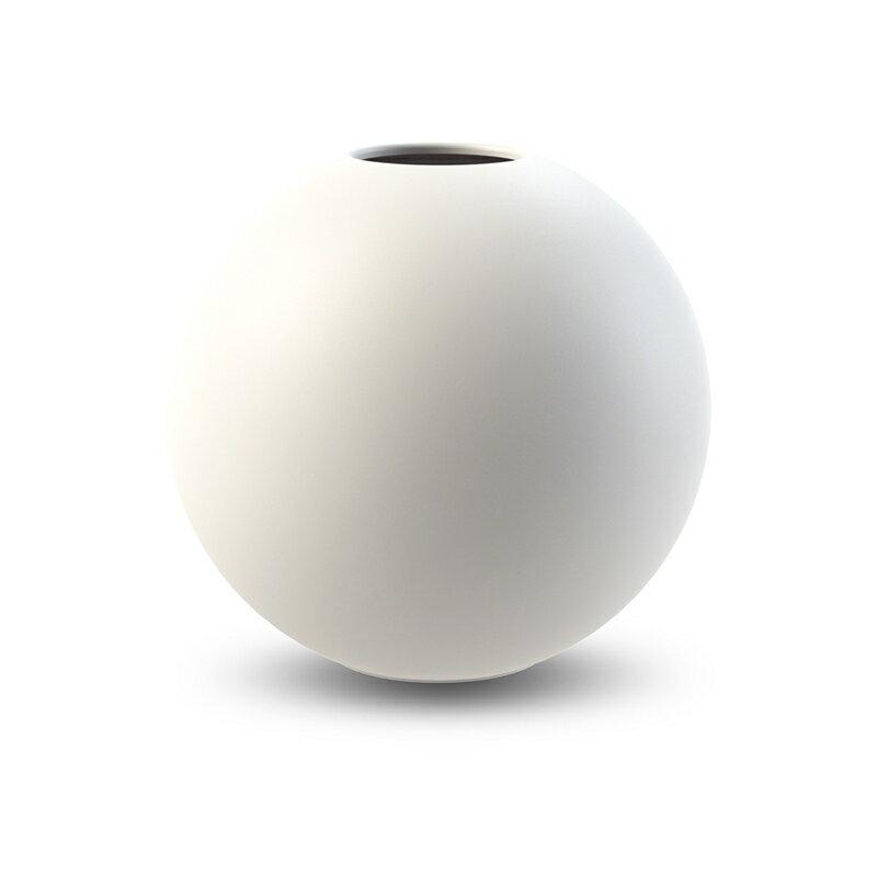 Cooee Design ボールフラワーベース 20cm ホワイト 花びん 北欧 スウェーデン