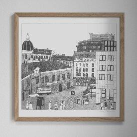 Fine Little Day NEIGHBOURHOOD/近所 ポスター 50x50cm ファインリトルデイ 北欧 スウェーデン