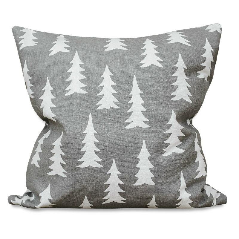 Fine Little Day モミの木柄 クッションカバー グレー ファインリトルデイ 北欧 スウェーデン【メール便OK】