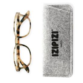 IZIPIZI 老眼鏡 リーディンググラス #B 長方形 明るいベッコウ フランス シニアグラス