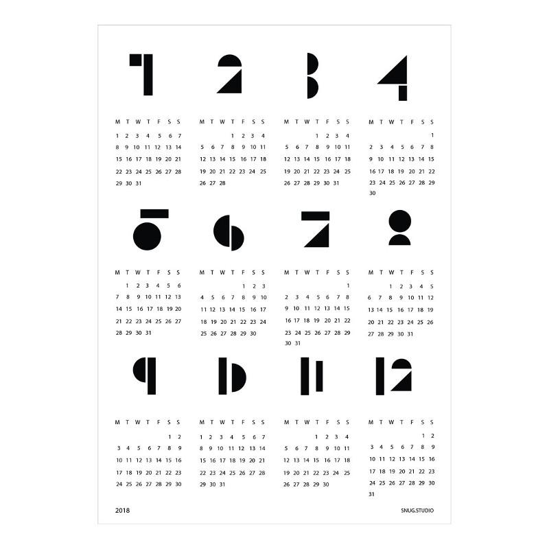 【ブランド終了・在庫限り】SNUG.TOYBLOCKS 2018 カレンダー ホワイト SNUG.STUDIO スナッグステューディオ ドイツ