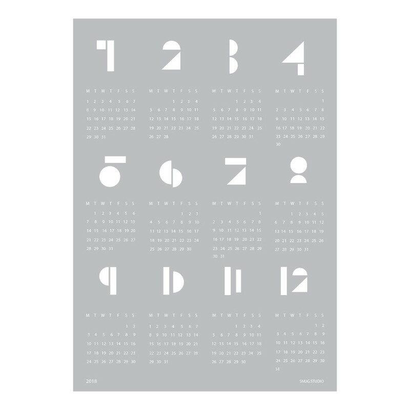 【ブランド終了・在庫限り】SNUG.TOYBLOCKS 2018 カレンダー ライトグレー SNUG.STUDIO スナッグステューディオ ドイツ