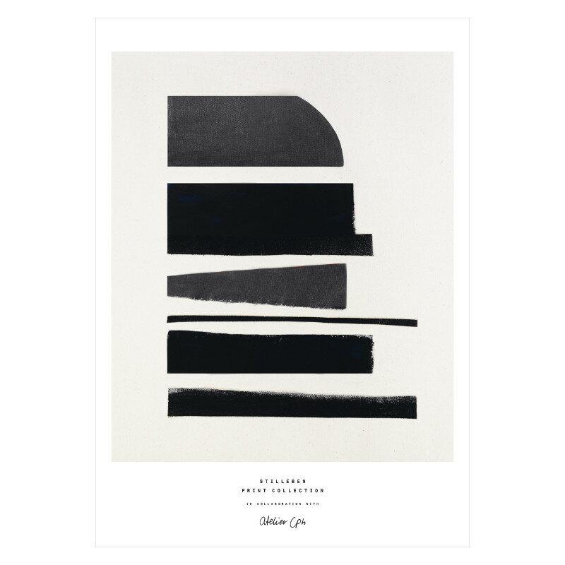 STILLEBEN 「構成要素」アートプリントポスター A4 モノクロ 北欧 デンマーク【メール便OK】