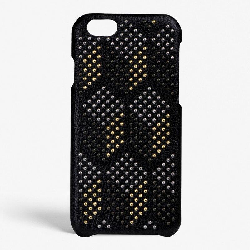 The Case Factory iPhone 7 / 8 ケース ブラック×ミックスミニスタッズ イタリア産ラム革 ナッパレザー 北欧 スウェーデン【メール便OK】