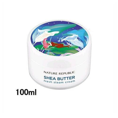 ネイチャーリパブリック NATURE REPUBLIC シアバター フレッシュ スチームクリーム 脂・混合燥肌用 100ml[ 保湿クリーム ]