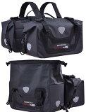 サイドバッグ完全防水大容量50L(25L×2個)完全防水取り付け簡単ブラックツーリング用品バイク用サドルバッグシートバッグ