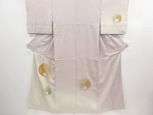 抽象鶴模様刺繍着物【アンティーク】【中古】