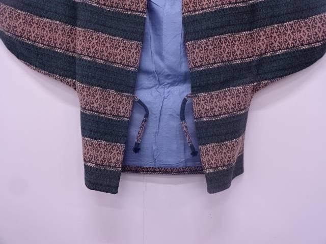 横段に抽象模様織出し和装コート【大正ロマン】【中古】