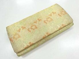 20b88cd1ff595 中古 花唐草模様織り出し和装バッグ アンティーク  中古 (リメイク・材料用)