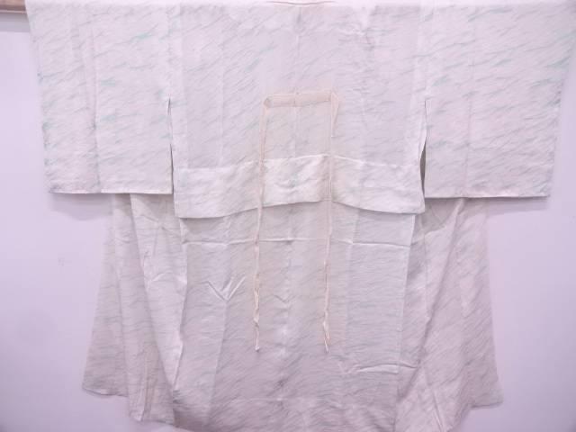絞り抽象模様単衣長襦袢【アンティーク】【中古】