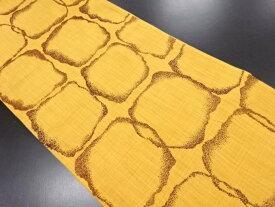 浅野織屋製 変わり石畳模様織り出し袋帯【リサイクル】【中古】