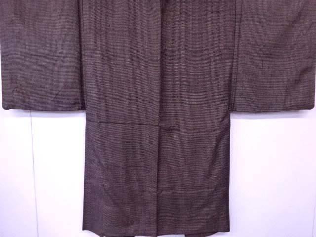 男物羽織 紬織 絣文様【リサイクル】【中古】