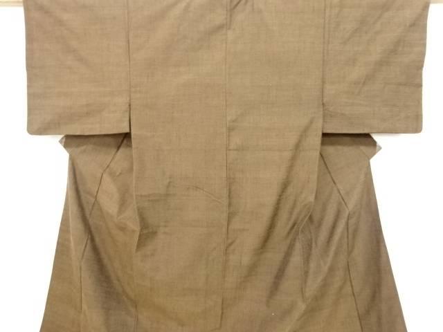 手織り節紬男物着物アンサンブル・兵児帯セット【リサイクル】【中古】