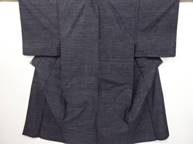 織り柄手織り節紬着物単衣男物着物【リサイクル】【中古】