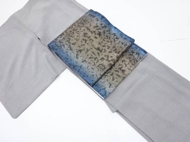 間道江戸小紋着物・全通袋帯セット【リサイクル】【中古】