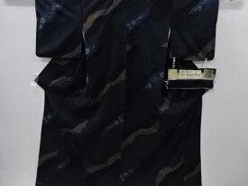 未使用品 吉澤与市作 絞り霞取りに花更紗模様織り出し手織り真綿紬100亀甲着物【リサイクル】【中古】