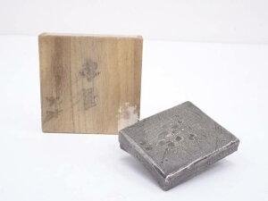 富康造 銀製梅文香合(銀900刻印)(148g) □kk