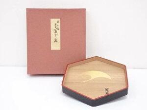 象彦造 銀杏鶴干菓子盆(箱付)