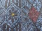 華紋織り出し本場村山泥大島紬着物【アンティーク】【中古】