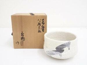加藤舜陶造 志野八ッ橋茶碗(共箱)