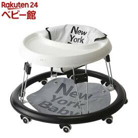 ベビーウォーカー NewYork・Baby ホワイト(1台)【カトージ(KATOJI)】[セーフティグッズ 歩行器]