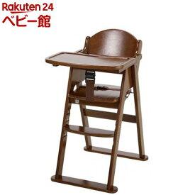 木製ハイチェア cena ステップ切り替え ブラウン(1台)【カトージ(KATOJI)】[ベビーチェア お食事グッズ 家具 ハイチェア]