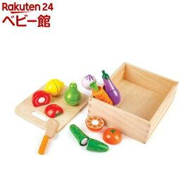 ハペ 新鮮お野菜&果物 E8269(1セット)【カワダ】[木のおもちゃ 遊具]
