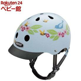 ナットケース リトルナッティ GEN3 バイザー付き ブルーバーズ&ビーズ(1個)【ナットケース】[三輪車 のりもの ヘルメット]