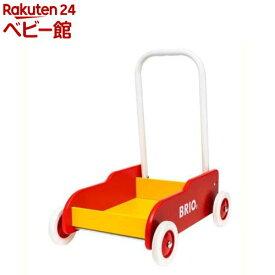 手押し車 赤(1台)【ブリオ(Brio)】[おもちゃ 遊具 手押し車カタカタ]
