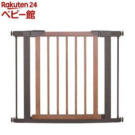スタイリッシュゲート Beni Wood Wide ブラウン 取付幅75cm-95cm(1個)【JTC】[ベビーゲート セーフティグッズ]