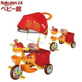 ブザー付おでかけ三輪車 それいけ!アンパンマン デラックスII オレンジ(1台)【エムアンドエム】