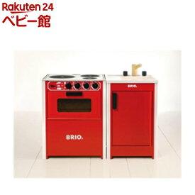 レンジ キッチンシンクセット レッド(1セット)【ブリオ(Brio)】[木のおもちゃ 遊具]