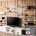 【スーパーセール】【glossy】グロッシーシリーズ 突っ張り壁面収納 無段階調整2枚棚オープンラック 幅86cm ホワイト オープンシェルフ つっぱり棚 つっぱりラック 収納棚 収納ラック オープンラック インテリア 壁面収納 おしゃれ