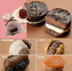 ラ・ネージュ 歴代の チョコレート 6点の詰合せ 「カーニバル」 「ジャポン」 + 「市田柿」 + 「いちじく」 + 「プラム」 + 「あんず」 + 「リュタン」