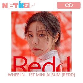 【ポスター丸めて】WHEE IN ミニアルバム REDD 【送料無料】 初回ポスター 当店限定特典 韓国チャート反映 MAMAMOO フィイン