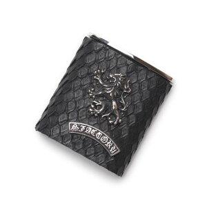 S'FACTORYエスファクトリー ポケット アッシュトレイ ブラック パイソン(ヘビ革) 携帯 灰皿 喫煙具 レザー 革 プレゼント ギフト 吸い殻入れ