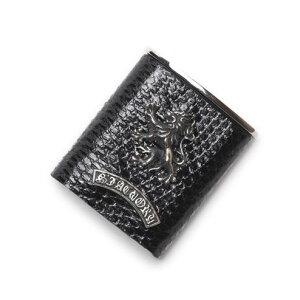 S'FACTORYエスファクトリー ポケット アッシュトレイ ブラック リザード(トカゲ革) 携帯 灰皿 喫煙具 レザー 革 プレゼント ギフト 吸い殻入れ