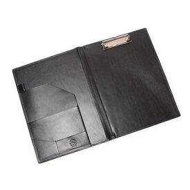 S'FACTORYエスファクトリー A4 レザーバインダー カウレザー ブラック(牛革)書類入れ バインダー クリップファイル クリップボード