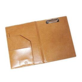 S'FACTORYエスファクトリー A4 レザーバインダー カウレザー キャメル(牛革)書類入れ バインダー クリップファイル クリップボード